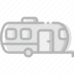 delivery, logistic, trailer, transport icon