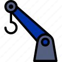 crane, delivery, logistics, transport icon