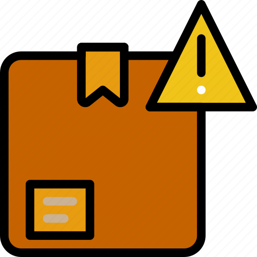 delivery, logistics, transport, warning icon