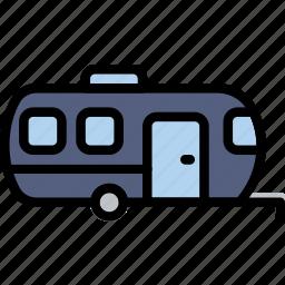 delivery, logistics, trailer, transport icon