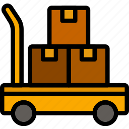 delivery, forklift, logistics, transport icon