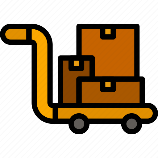 delivery, forklift, logistics, transport icon