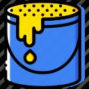bucket, color, design, graphic, tool
