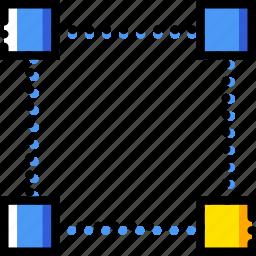 bottom, corner, design, edit, graphic, right, tool icon