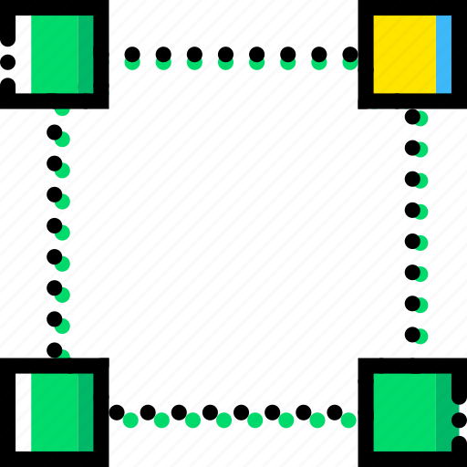 corner, design, edit, graphic, right, tool, top icon