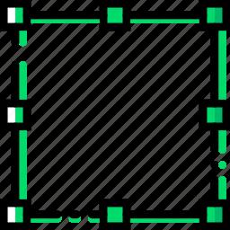 bounding, box, design, edit, graphic, tool icon