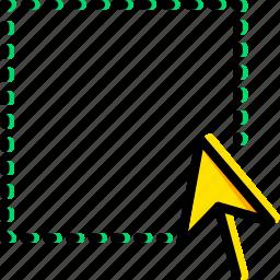 area, design, graphic, select, tool icon