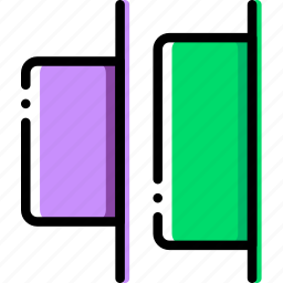 design, distribute, graphic, horizontal, tool icon