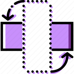design, graphic, horizontally, rotate, tool icon