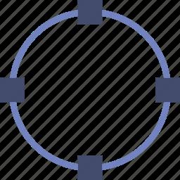 design, edit, graphic, line, oval, tool icon