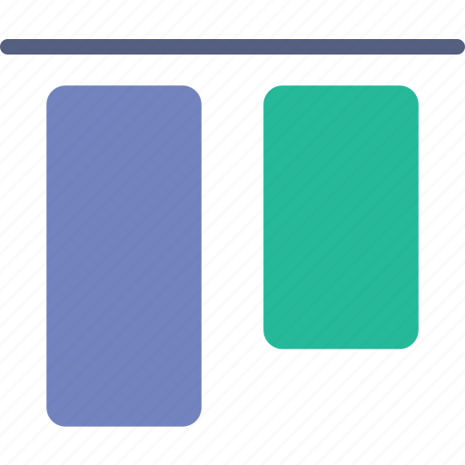 align, design, graphic, tool, top, vertical icon
