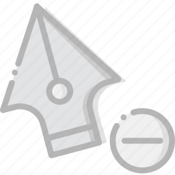 anchor, design, graphic, point, substract, tool icon