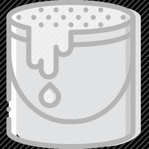 bucket, color, design, graphic, tool icon