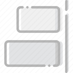 align, design, graphic, horizontal, right, tool icon