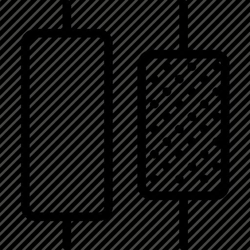 center, design, distribute, graphic, horizontal, tool icon