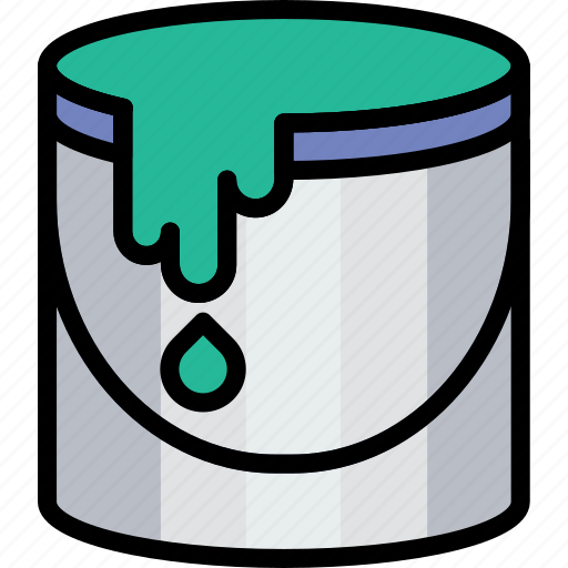 bucket, color, design, graphic, tool icon