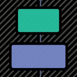 align, center, design, graphic, horizontal, tool icon