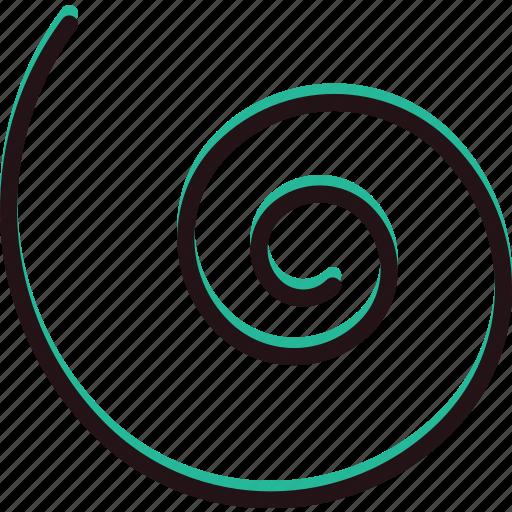 design, graphic, spiral, tool icon
