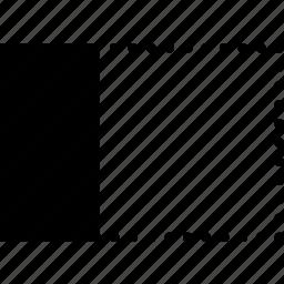 align, design, graphic, horizontally, left, tool icon