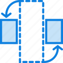 design, graphic, horizontally, rotate, tool icon