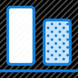 align, bottom, design, graphic, tool, vertical icon