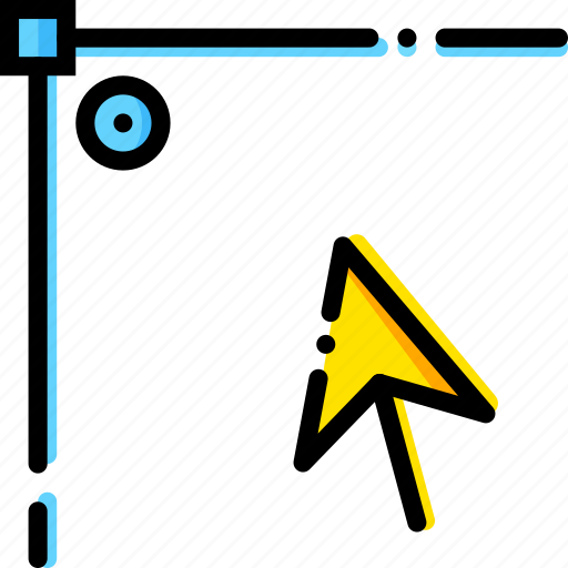 corner, design, edit, graphic, point, tool icon