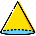 cone, design, graphic, tool icon