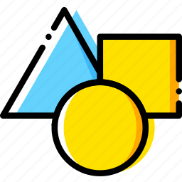 design, graphic, insert, tool, triangle icon