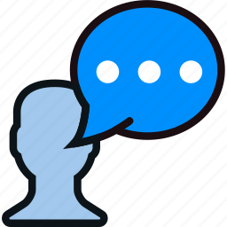 communication, dialogue, discussion, message icon