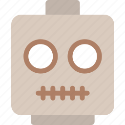 emoji, emoticon, face, skeleton icon