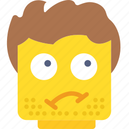emoji, emoticon, face, grubby icon