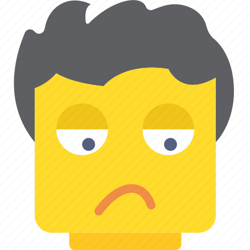 emoji, emoticon, face, in, mood, not, the icon