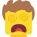 dazed, emoji, emoticon, face icon