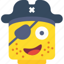 emoji, emoticon, face, pirate icon