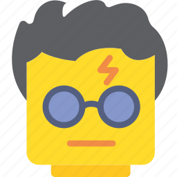 emoji, emoticon, face, harry, potter icon