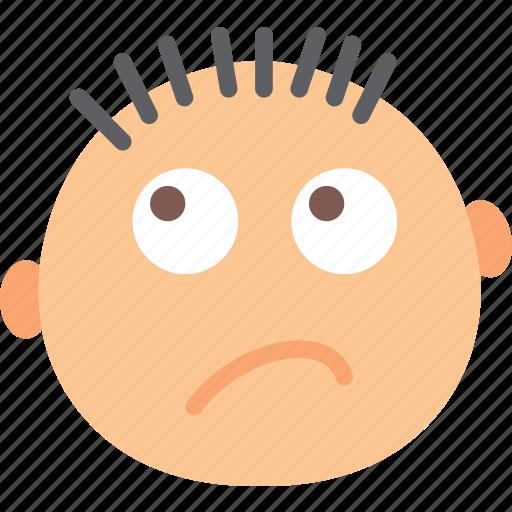 dissapointed, emoji, emoticon, face icon