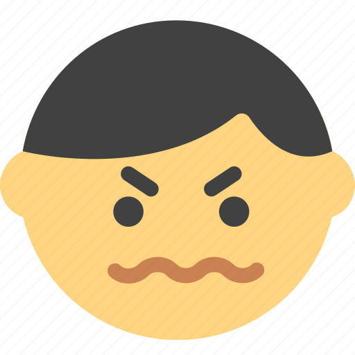 emoji, emoticon, face, pissed icon