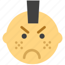 emoticon, emoji, punk, face