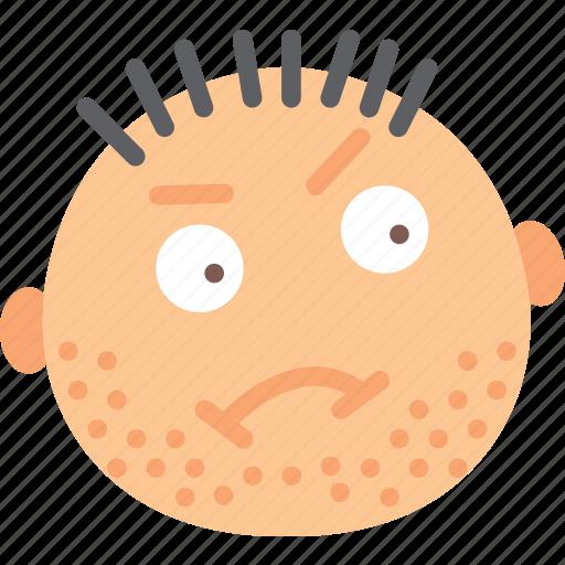 emoji, emoticon, face, grubby icon