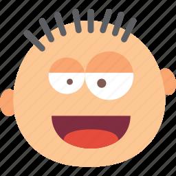 amused, emoji, emoticon, face icon