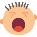 emoji, emoticon, face, yawning icon