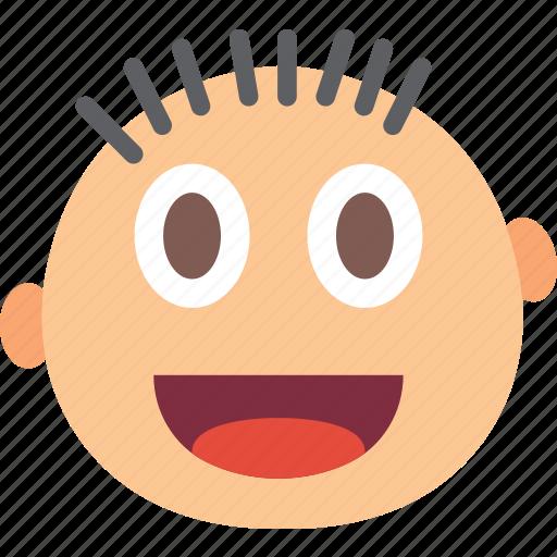 emoji, emoticon, face, happy, very icon