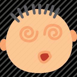 dizzy, emoji, emoticon, face icon
