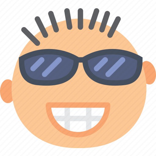 emoji, emoticon, face, smug icon
