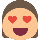 emoji, emoticons, emotion, girl, in, love icon
