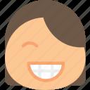 emoji, emoticons, emotion, girl, happy icon