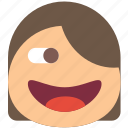 emoji, emoticons, emotion, girl, kinky icon