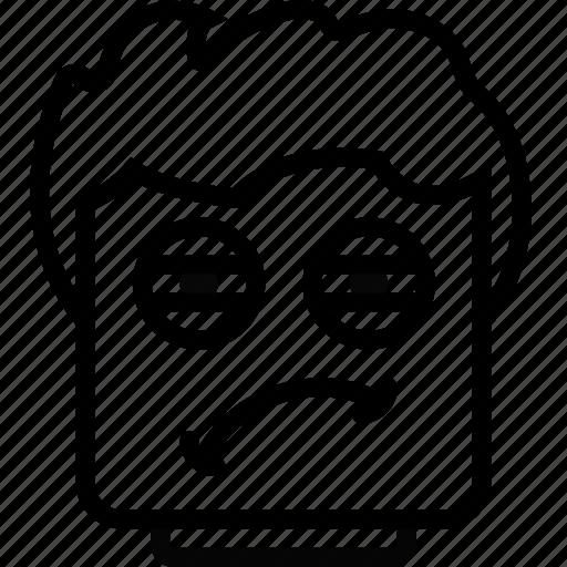 Emoji, emoticon, face, tired icon - Download on Iconfinder