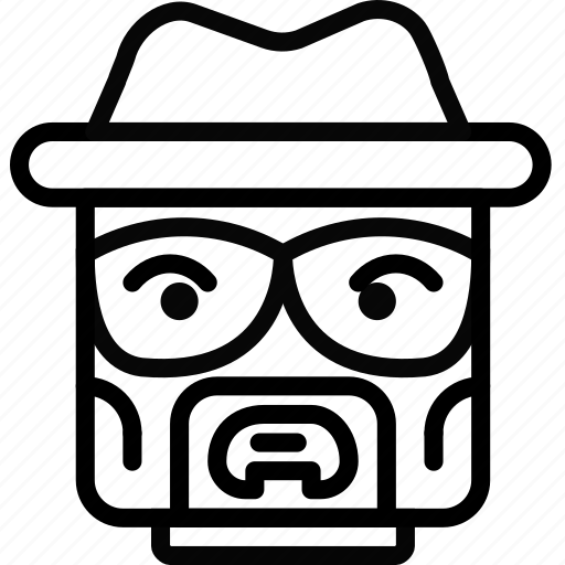emoji, emoticon, face, heisenberd icon