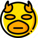 daredevil, emoji, emoticon, face icon